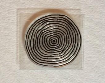 Tiny Tree Ring Stamp -- Tree Stamp --Woodland Stamp --Circle Stamp --Ring Stamp