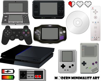 12 PNGS, Video Games, Video Game Clipart, Clip art, PS3 Controller, Gameboy, 3DS, Games, Games Clipart, Controller, Handheld Video Games