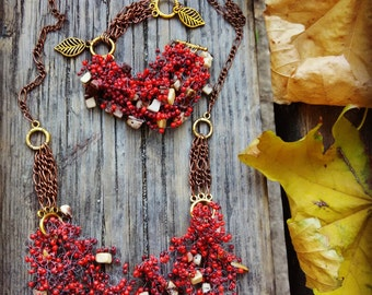 "Jewelry Set ""Autumn Etude"""