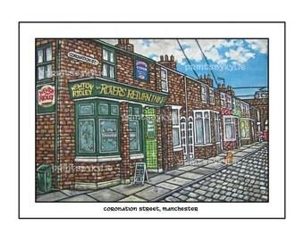 Coronation Street, Manchester, England.  Fine Art Print.