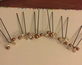 6 Swarovski crystal hair pins. Weddings/party