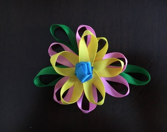 Cute Flower Hair Bow