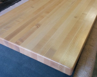 Made to order, Custom Edge grain Butcher block cutting boards from hard maple.