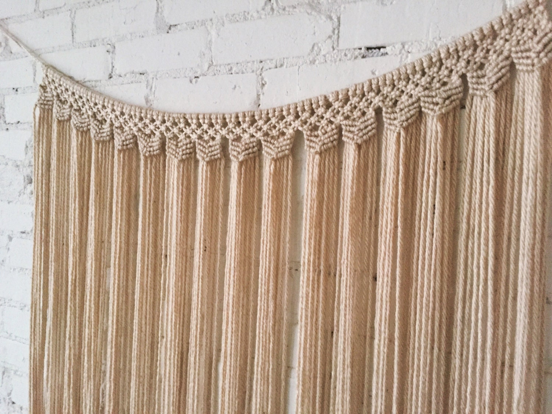 Large Macrame Wall Hanging Curtain