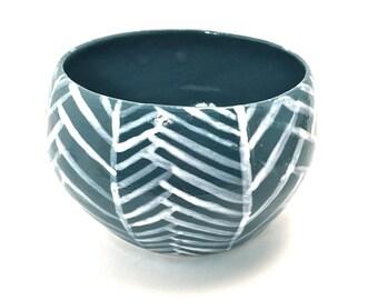 Hand glazed bowl