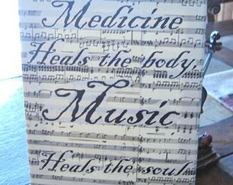 Music Heals the Soul Canvas Art