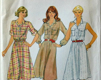 Uncut 1970s Butterick Vintage Sewing Pattern 4202, Size 12-14-16; Misses' Dress