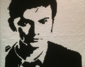 Tenth Doctor- David Tennant crochet blanket - PATTERN ONLY