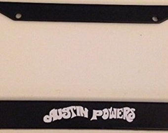Austin Powers Shaggy Shagalicious - Black  License Plate Frame - Custom