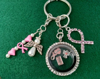 Breast Cancer Awareness Key Chain, Purse Charm