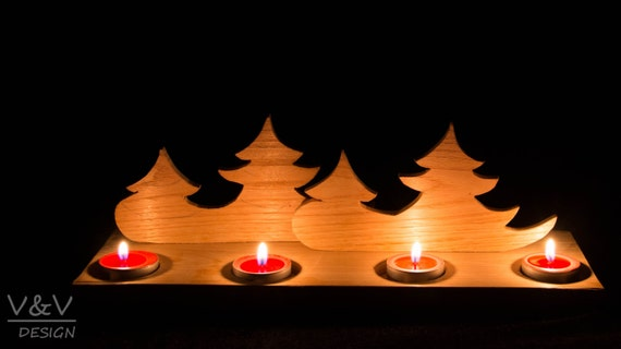 FOrest Advent Wreath