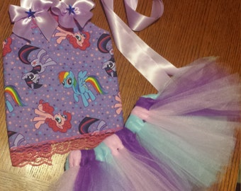 my little pony corset top with tutu