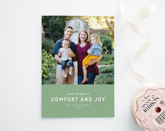 Holiday Photo Cards - Christmas Cards - Glad Tidings of Comfort and Joy - Collage
