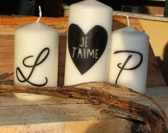 "Personalized ""Love"" Candle Set"