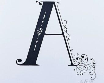 Letter A - Limited Silkscreen Art Print