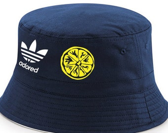 Stone Roses Spike Island Adored 25th Anniversary Tribute Navy Blue Reversible Bucket Hat Free Delivery UK