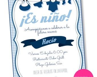 Invitation Baby Shower invitation printable, digital, personalized infant.
