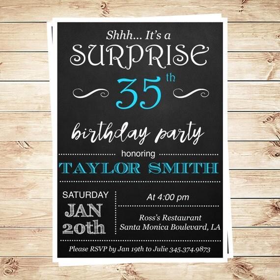 Surprise Adult Birthday Invitations 14