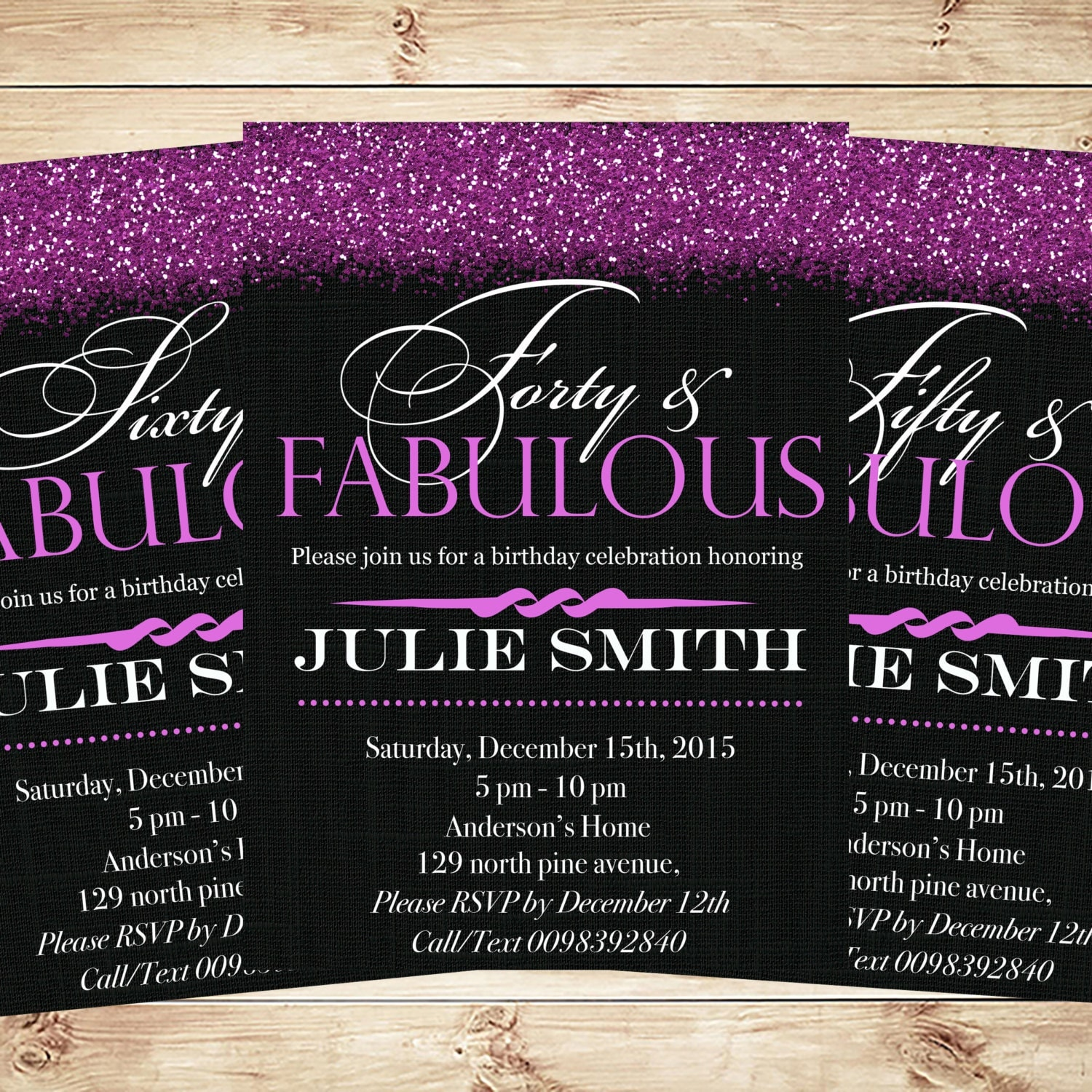 Fab 50 Birthday: 50 And Fabulous Invitations & Announcements 50th Birthday