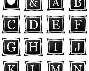 Monogram - Decorative Pillow, Throw Cushion, Pillow Cover, Decor, Throw Pillow, Cushion