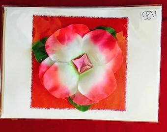 3D flower with gemstone