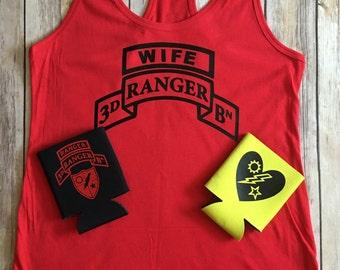 Army Ranger Wife Tank! Ranger/Army/Wife/Girlfriend/Mom/Niece