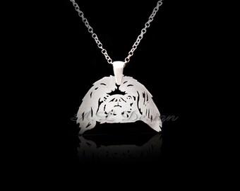 Sterling Silver Pekingese Necklace, Pekingese Pendant, Pekingese Necklace, Pekingese Dog, Pekingese Gift, Pekingese Art, Pekingese Jewelry
