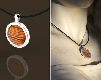 """Pendant Necklace with """"solid round 1680"""""""