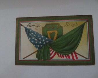 1910 St patricks day postcard