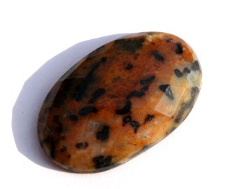 30x19 mm Natural Cheetah Jasper Gemstone Faceted Oval Cabochon / Natural Gemstone Cabochon / Semiprecious Gemstone Cabochon