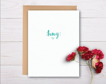 sending you a hug card - sympathy card, grief card, bereavement card