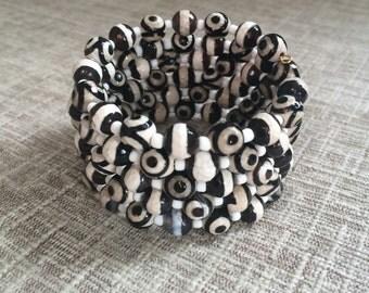 Bracelet memory wire agat beads, agat bangle, 5 wrap