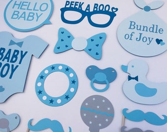 Baby Boy Props / Boy Baby Shower / Baby Photo Booth Props / Boy Baby Shower Gift / Fully Assembled / 17 pc