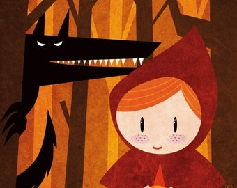 Tales - Little Red Riding Hood print