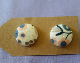 Handmade 23mm button earrings