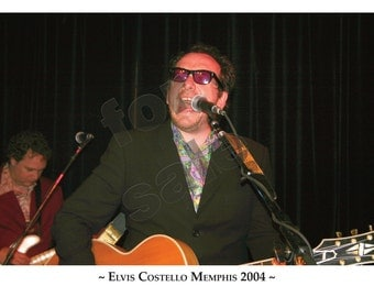 Elvis Costello Hi-Tone Cafe Memphis 2004 Limited Edition-100 Fine Art Photo Print A3 Size