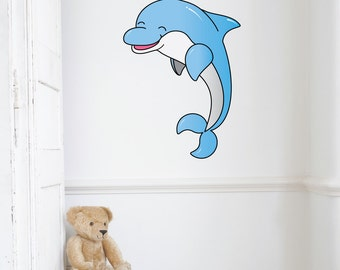 Dolphin Kids Wall Decal Sticker PC0304