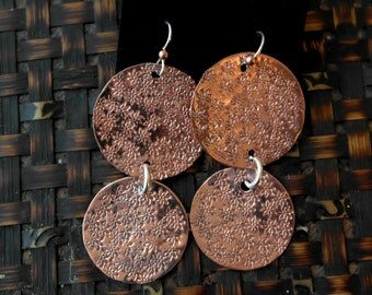 Copper daisy earings