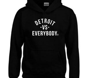 DETROIT vs Everybody SHADY record Eminem obey customized hoodie sweatshirt pullover slim