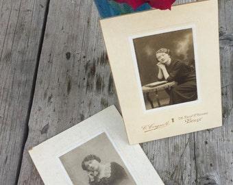 Poignant pair of French Vintage photos