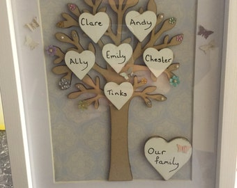 Hand made family trees