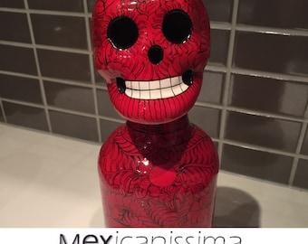 Red skull bottle