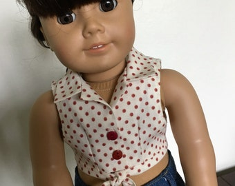 Daisy Duke blouse fits American girl dolls