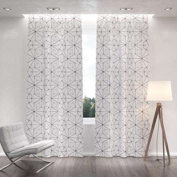 vente 25 de rabais rideaux occultants blanc motifs. Black Bedroom Furniture Sets. Home Design Ideas