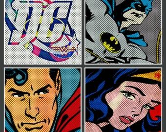 DC comics coaster set