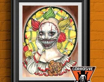 Twisty The Clown - American Horror Story - Print