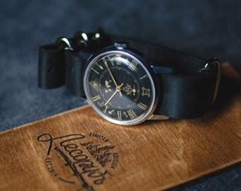 "Ultra rare original vintage Soviet watch ""Zim - Masonic watch"" 1980 release. Mechanical watch, Vintage watch, Mens watch vintage"