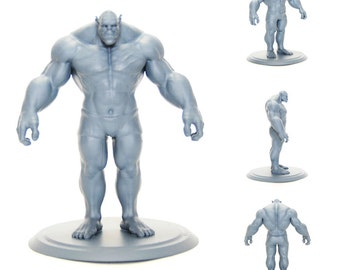 3D Printed 4in Tall Orc figurine
