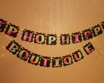 Tie Dye Banner, Hip Hop Banner, Birthday Banner, Birthday Party Banner, Party Banner, Birthday Banner, Happy Birthday Party Banner