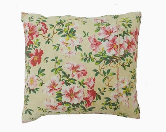 French Pillow Handmade Accent Cushion Throw Unique Vintage Chintz Fabric